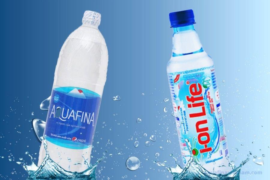 Nước aquafina và nước ion life