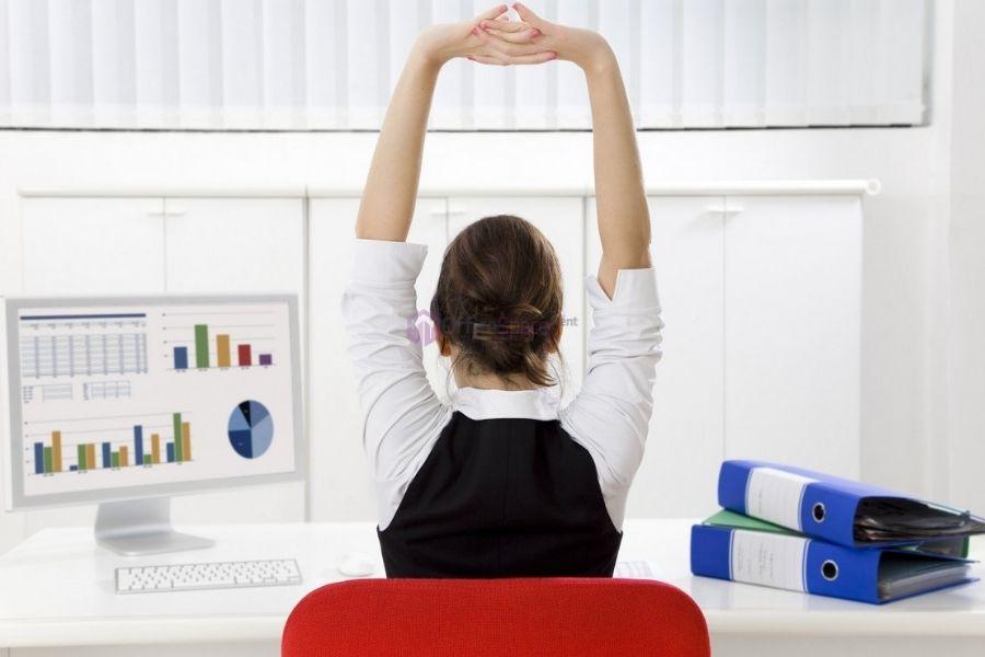 Vận động tại văn phòng giúp bạn giữ sức khỏe